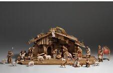 Nativity set 29 pcs. with hut, statue wood carving for Nativity set  mod. 912