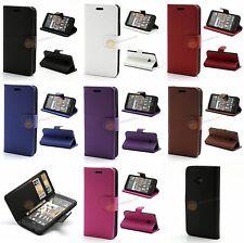 Leder Hülle Geldbörse für HTC One M7 801e Stand Ledertasche + Displayfolie