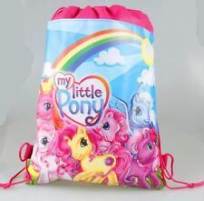 Kids My Little Pony PE Gym Sport Swimming Draw String Bag Pink & Blue 4 Designs