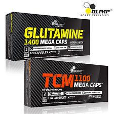 L-Glutamine & Tri Creatine Malate TCM 60-180Caps. Amino Acids Anabolic Pills