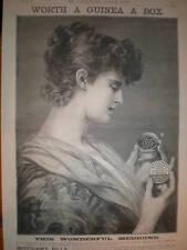 Beecham's Pills lady in raptures art advert 1887