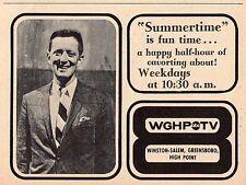 1966 WGHP tv ad ~ SUMMERTIME & Host Dick Bennick in High Point,North Carolina