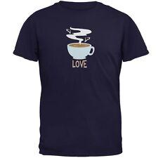 Love Coffee Navy Adult T-Shirt