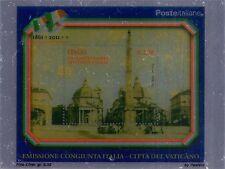 2011 Emissione congiunta con Vaticano - foglietto su lamina d'argento