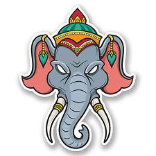 2 x 10cm Elephant Vinyl Sticker iPad Laptop Car Bike Car Helmet Cool Fun #5232