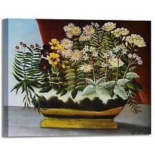 Rousseau fiori di poeta design quadro stampa tela dipinto telaio arredo casa