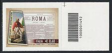 """Italia 2012 """"Quotidiano Roma"""" con codice a barre Mnh"""