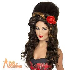 Rehab Wig Brown Amy Winehouse Pop Star Ladies Fancy Dress Costume Accessory New