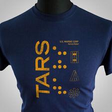 TARS T Shirt Interstellar Movie Sci Fi Robot US Marine Matthew McConaughey Blue