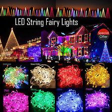 20/30/40er LEDs Warmweiss Bunt LED Lichterkette Beleuchtung für Batterie 2 3 4M