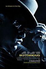 187872 Notorious (2009) B.I.G. Biggie Smalls Rap HipHop Wall Print Poster AU