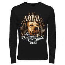 Camuflaje manga larga camisa American Staffordshire Terrier Dogs Stafford listas perros