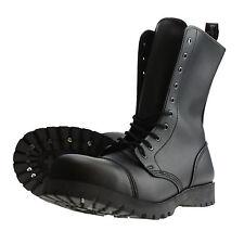Boots and Braces 10-Agujeros Botas Vegetariano Vegano Botas Saltador Negro