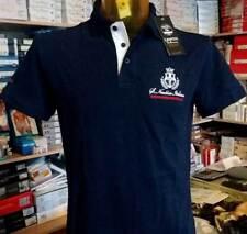 Polo uomo Scuola Nautica in cotone con logo ricamato e stampa collo art 418809