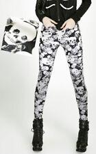 Leggings gothique punk lolita rétro baroque tête de mort crânes skull Punkrave N