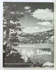 Whitney's High Sierra 1971 Reprint Yosemite  HB DJ vg+ Book