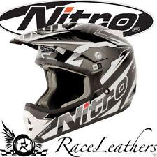 Nitro FRAGMENTO GRIS BLANCO NEGRO MOTOCROSS MX Moto -x MOTO MX todoterreno Casco