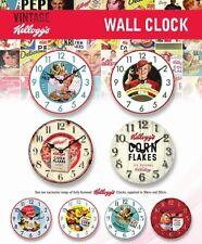 KELLOGGS cornflakes riz soufflé vintage rétro mural cuisine horloge, 30cm OU