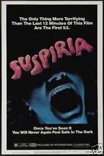 Suspiria 1977 vintage horror movie poster print