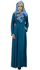 Bimba Women's Full-Sleeve Muslim Clothing Islamic Abayas Maxi Jilbab Dress