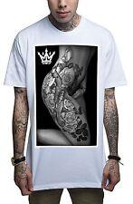 Mafioso Body Art Mens White T Shirt Tattoo Urban Streetwear