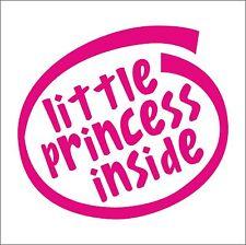 Little Princess dentro de la etiqueta engomada del vinilo Coche Casa Niños Niños Bebé Recién Nacido