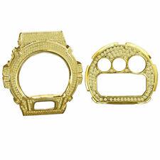 Gold Canary Tone Casio G-Shock DW6900 Simulat Diamond Watch Bezel Face Plate Set