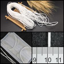 (1 €/m) 1 m Gummiband 3mm rund Gummikordel Rundgummi für Masken elastisch