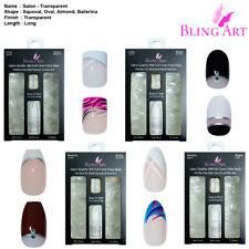 False Nails 360 Salon Oval Squoval Ballerina Almond Long Transparent Acrylic Tip