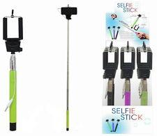 Mono Pod télescopique selfie bâton avec câble-pas besoin de piles - 3 couleurs