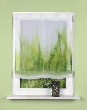 Digitaldruck Schlaufen Raffrollo 45/60/80/100/120x140 Plymouth grün Gräser Gras