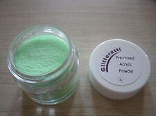 Glitteratti 12 espumosos Verde Brillo Pre-mezclado Acrílico polvo Opi Nsi Nail Art