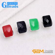 Rectangle Bead Tibetan Silver Plated Stud Earrings Fashion Jewelry Free Shipping