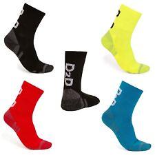 D2D Comfort Performance Cycling Socks - Black, Red, Blue or Hi-Viz