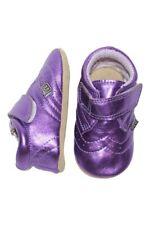 MELTON Baby Mädchen Krabbelschuhe metalic lila | Lederpuschen | Babyschuhe