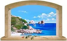 Sticker Trompe L'oeil Adesivo Finestra su Capri