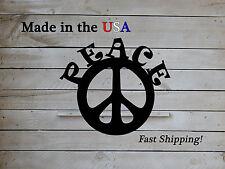 Peace Sign, Peace, Hippie Decor, Metal Wall Decor, Retro Art, Bohemian, S1199
