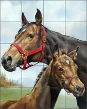 Horse Tile Backsplash Forget Equine Art Ceramic Mural VFA017