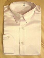 Herrenhemd Jungenhemd glänzend festlich Hochzeitshemd  Kragenhemd creme langarm