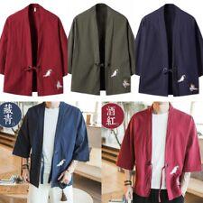 Men's Kimono Cardigan Noragi Street Loose Oversized  Jacket Haori Man Yukata Coa