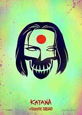 Suicide Squad Film Posters  - Katana - Option 3 - A3 & A4