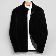 Fashion Men's Winter Lamb Wool Fur Parka Outwear Overcoat Warm Jacket Short Coat