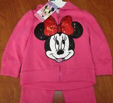 New Disney Junior Baby Girls Pink Minnie Mouse 2-Piece Set 18M