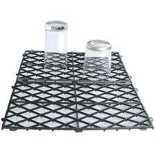 10 Glass Mats Plastic Clear or Black Pub Bar Shelf Stacking Pack Shelf Liner
