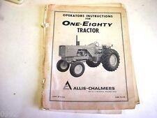 Allis Chalmers 180 Farm Tractor Operators Manual