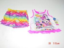 NWT Toddler 2 piece set Girls Disney Minnie Mouse Summer Pajamas comfort wear