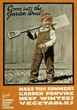 Wa94 VINTAGE venire in per il giardino DAD coltivare i propri WWI guerra POSTER A4