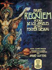 "FAURE REQUIEM DE LOS ANGELES FISCHER-DIESKAU Andre Cluytens 12 "" LP (L7538)"