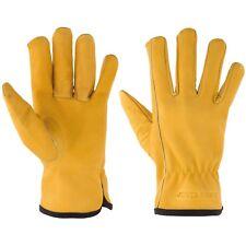 Suse's Kinder Premium Kid's Leather Work Gloves Top Grain Cowhide