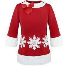 Mädchen Kostüm Kinder Weihnachten Prinzessin Kleid Weihnachten Festkleid Langarm
